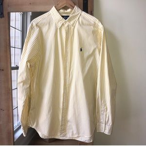 Polo by Ralph Lauren Yellow Striped Button Down